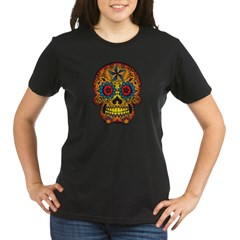 Skull Organic Women's T-Shirt (dark)