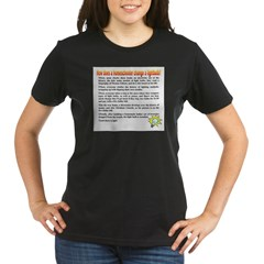 Homeschool Lightbulb Organic Women's T-Shirt (dark)