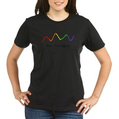 Riyah-Li Designs Not Straigh Organic Women's T-Shirt (dark)