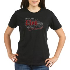 Lion Fell for the Lamb Organic Women's T-Shirt (dark)