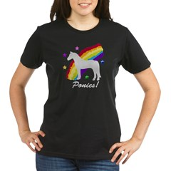 Rainbow Ponies! Organic Women's T-Shirt (dark)