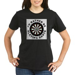 DARTBOARD/DARTS Organic Women's T-Shirt (dark)