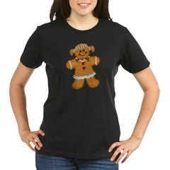 Gingerbread Woman Organic Women's T-Shirt (dark)