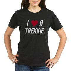 I Luv (heart) A Trekkie Organic Women's T-Shirt (dark)