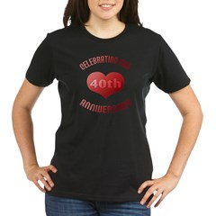 40th Anniversary Heart Gif Organic Women's T-Shirt (dark)