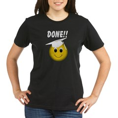 GraduationSmiley Face Organic Women's T-Shirt (dark)