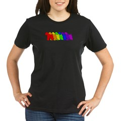 Rainbow Wheaten Organic Women's T-Shirt (dark)