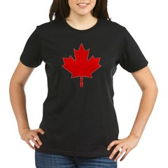 Maple Leaf Organic Women's T-Shirt (dark)