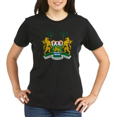 Sierra Leone Coat of Arms Organic Women's T-Shirt (dark)