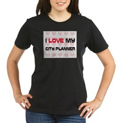 I Love My City Planner Organic Women's T-Shirt (dark)