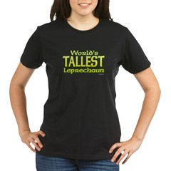 tallest-leprechaun-4green Organic Women's T-Shirt (dark)