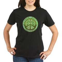 Peaceful Tree Hugger Organic Women's T-Shirt (dark)