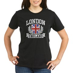 London England Organic Women's T-Shirt (dark)