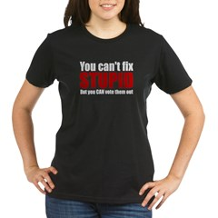 You Can't Fix Stupid Organic Women's T-Shirt (dark)