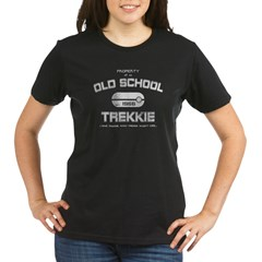 Old School Trekkie Aged Organic Women's T-Shirt (dark)