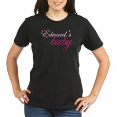 Edward's baby Maternity T-shirt- hot pink writing Organic Women's T-Shirt (dark)