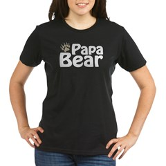 Papa Bear Claw Organic Women's T-Shirt (dark)