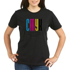 cmyk design thing Organic Women's T-Shirt (dark)