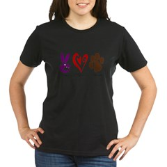 Peace, Love, Rescue Organic Women's T-Shirt (dark)