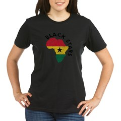 Ghana Black stars Organic Women's T-Shirt (dark)