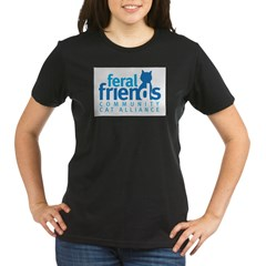 Feral Friends 2010 Logo Organic Women's T-Shirt (dark)