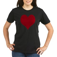 - Heart/Love Design Organic Women's T-Shirt (dark)