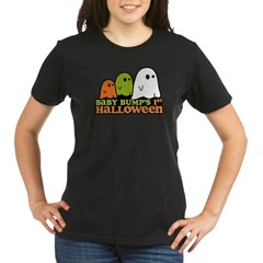 Baby Bump's 1st Halloween Organic Women's T-Shirt (dark)