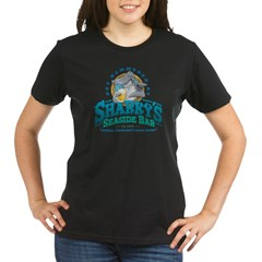 Sharky's Seaside Bar Organic Women's T-Shirt (dark)