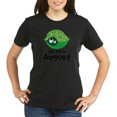 august turtle 2010 Organic Women's T-Shirt (dark)