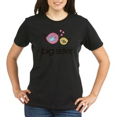 MASTER whimsy birds front no personalization Organic Women's T-Shirt (dark)