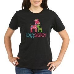 funky giraffe sister no name Organic Women's T-Shirt (dark)