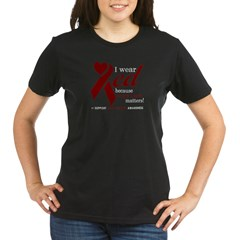 I Wear Red Organic Women's T-Shirt (dark)