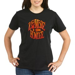 Zombie Hunter In Training Organic Women's T-Shirt (dark)