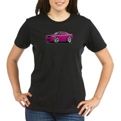 Challenger SRT8 Fuschia Car Organic Women's T-Shirt (dark)