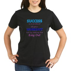 No Easy Out Organic Women's T-Shirt (dark)