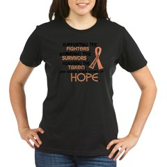 © Supporting Admiring 3.2 Uterine Cancer Shirts Organic Women's T-Shirt (dark)