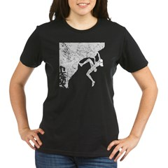 Female Rock Climber Organic Women's T-Shirt (dark)