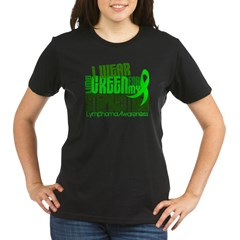 I Wear Lime 6.4 Lymphoma Organic Women's T-Shirt (dark)