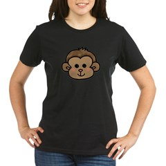 Monkey Face Organic Women's T-Shirt (dark)
