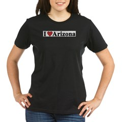 I Love Arizona Organic Women's T-Shirt (dark)
