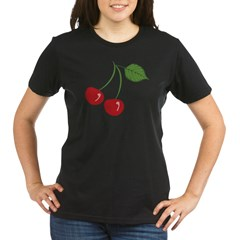Classic Cherry Organic Women's T-Shirt (dark)