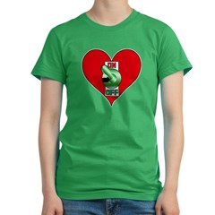 Heart On Women's Fitted T-Shirt (dark)