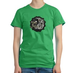 Dragon & Tiger Women's Fitted T-Shirt (dark)