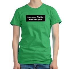 Immigrant Rights Women's Fitted T-Shirt (dark)