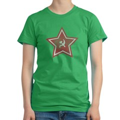 Soviet Star Women's Fitted T-Shirt (dark)