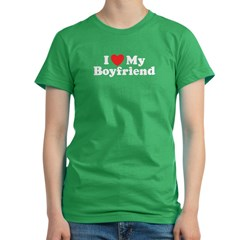I Love My Boyfriend Women's Fitted T-Shirt (dark)