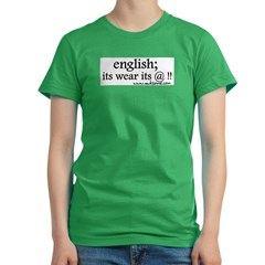 """English; its wear..."" Women's Fitted T-Shirt (dark)"