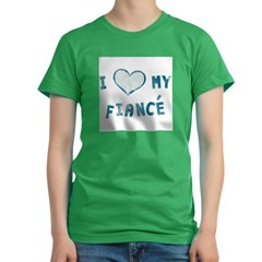 I Heart / Love My Fiancé Women's Fitted T-Shirt (dark)
