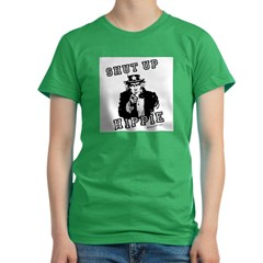 Shut up, Hippie - Women's Fitted T-Shirt (dark)