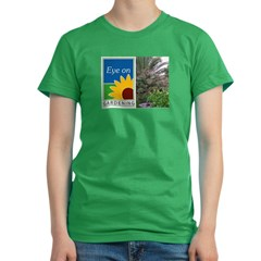 Eye on Gardening Tropical Plants Women's Fitted T-Shirt (dark)